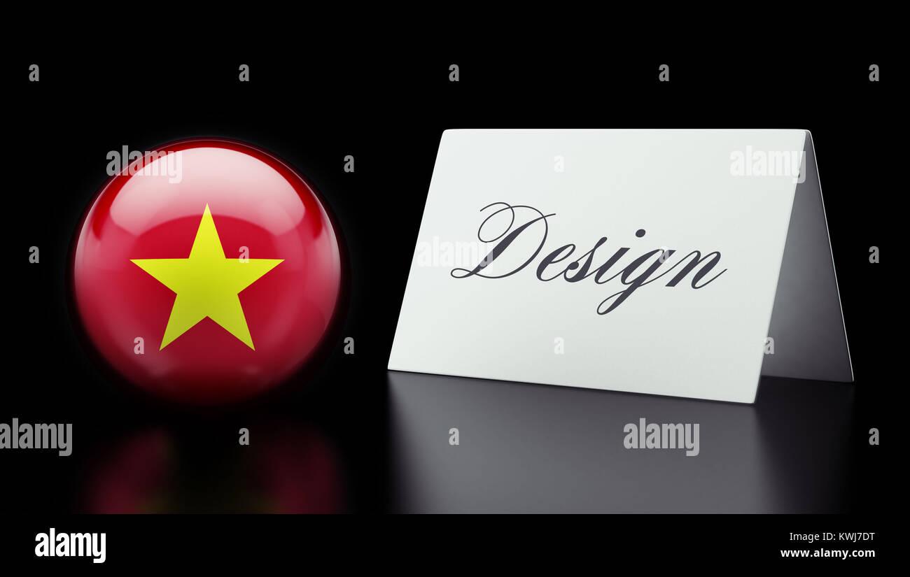 Vietnam High Resolution Design Concept - Stock Image