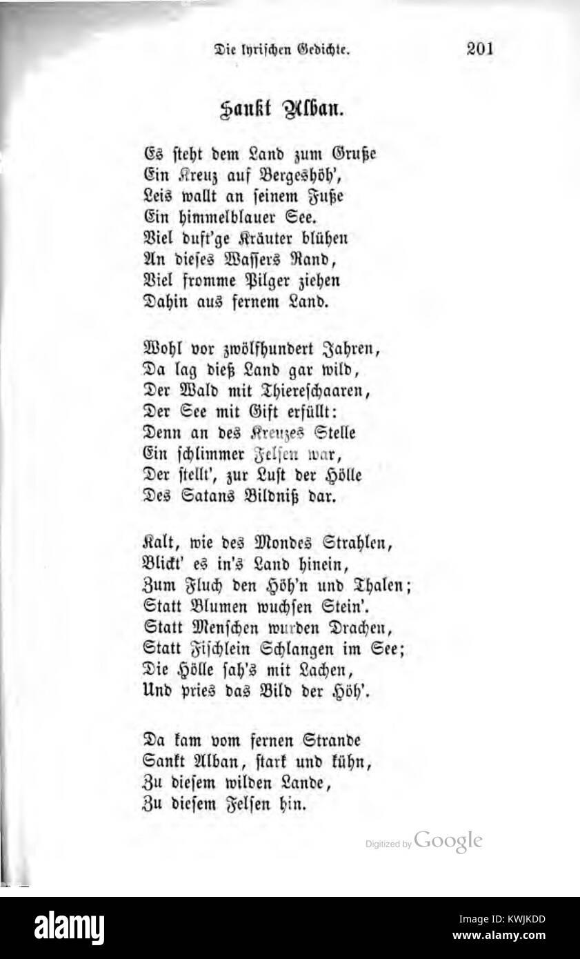 Justinus Kerner Ausgewählte Poetische Werke Band 1 201