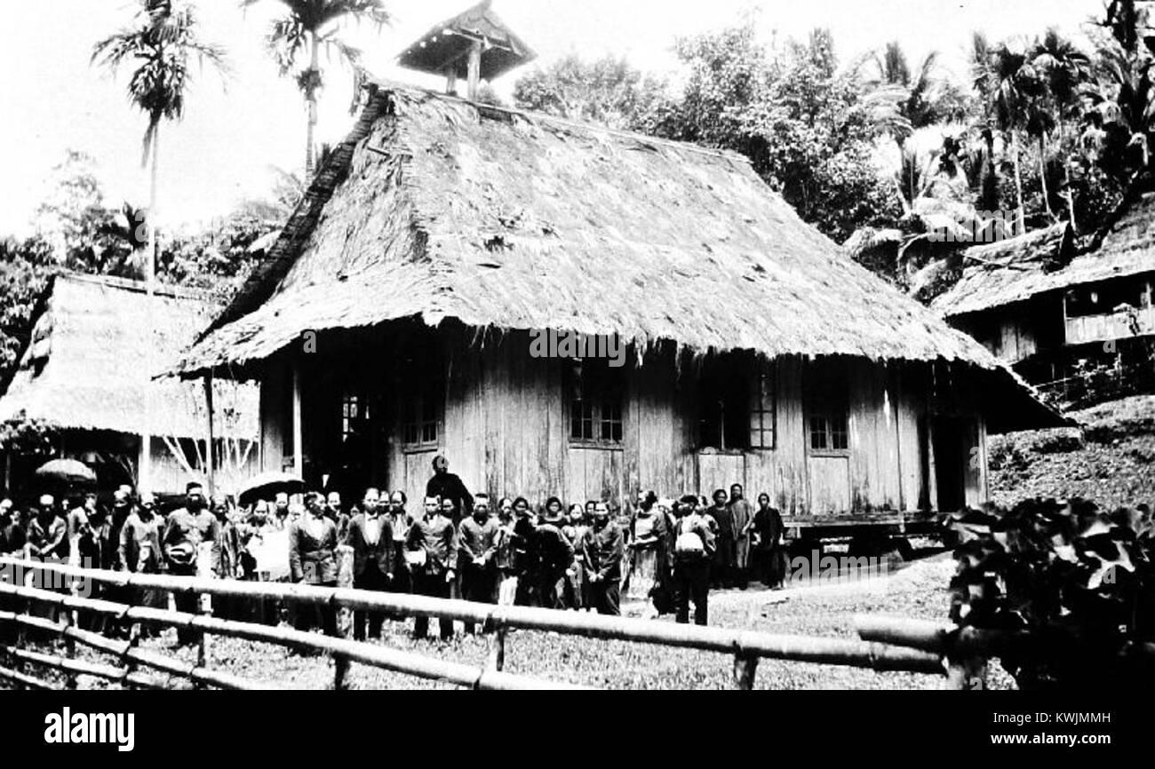 Zendingskerkje te Karor, Minahasa, Sulawesi. - Collectie stichting Nationaal Museum van Wereldculturen - TM-10000742 - Stock Image