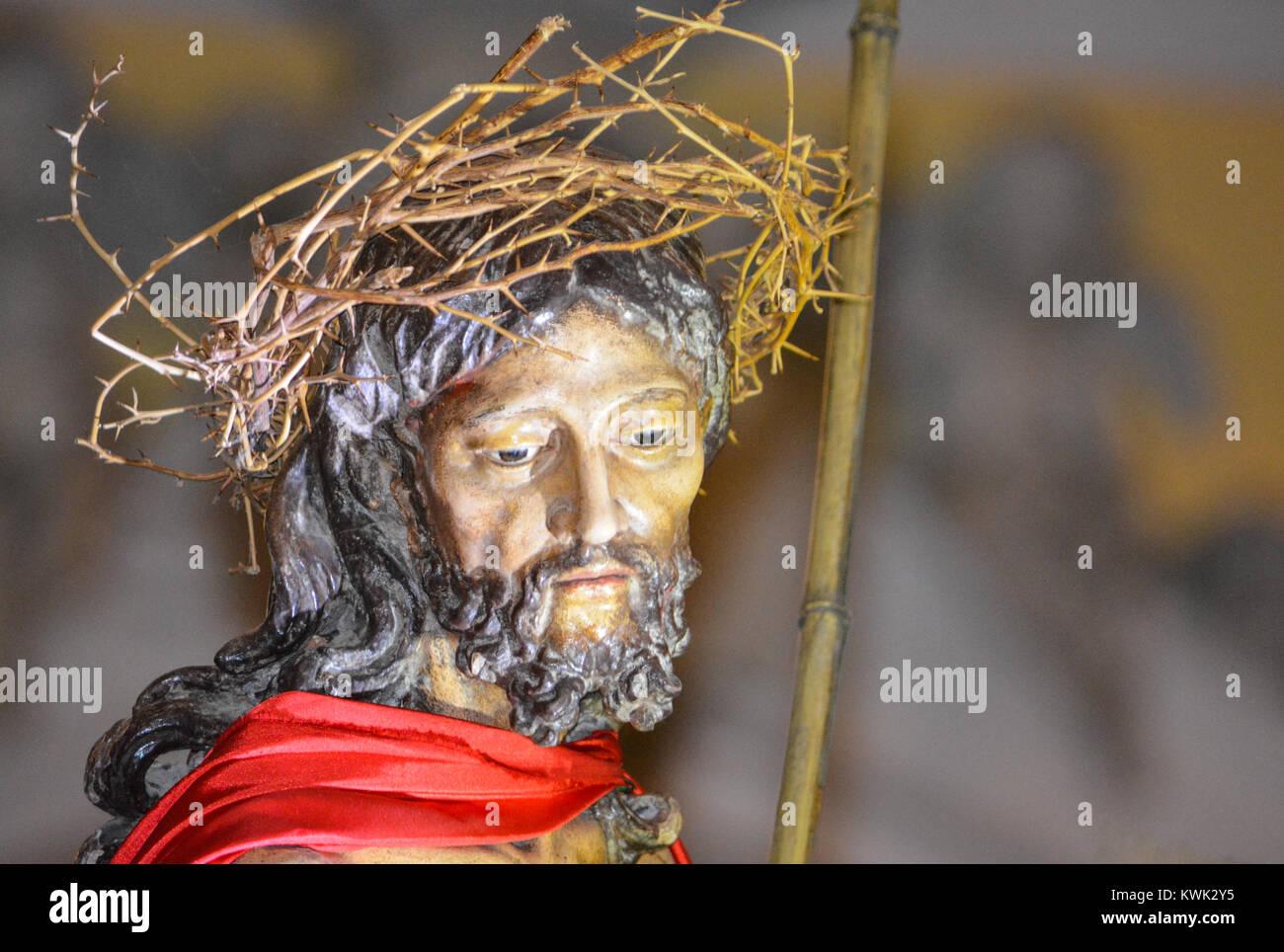 Statue of Jesus Christ in the Cathedral San Juan Bautista, Old San Juan, Puerto Rico Stock Photo