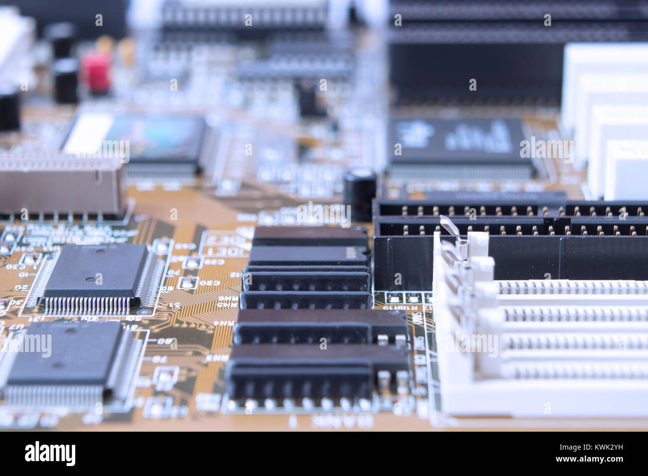 Resistors On Circuit Board Stock Photos Integrated Looks Like A Bug Are Capacitors Slots Circuits Microprocessor Image