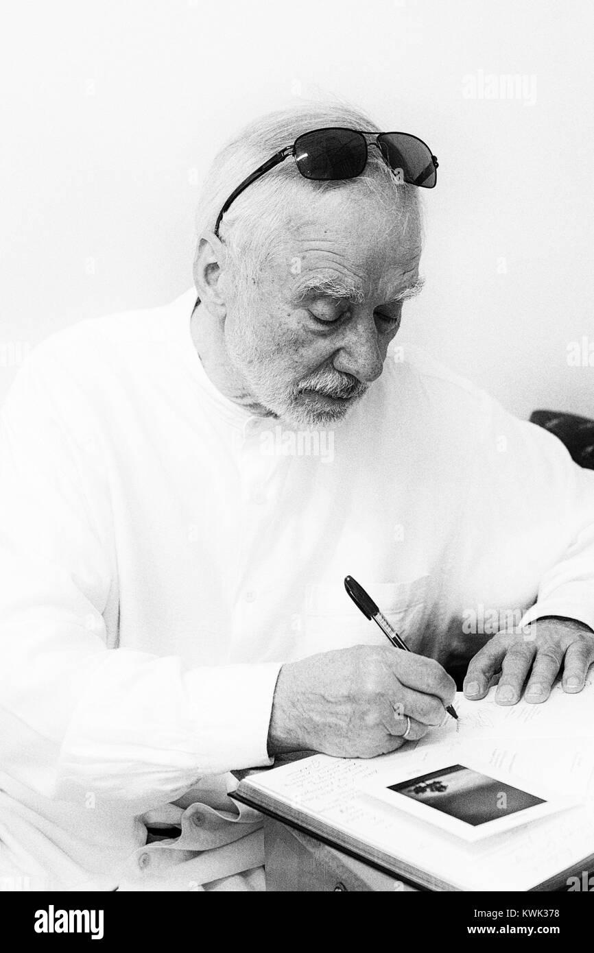 Andrzej Baturo (born May 16, 1940 in Vilnius, June 9, 2017 in Bielsko-Biała. Polish photographer, activist and organizer - Stock Image