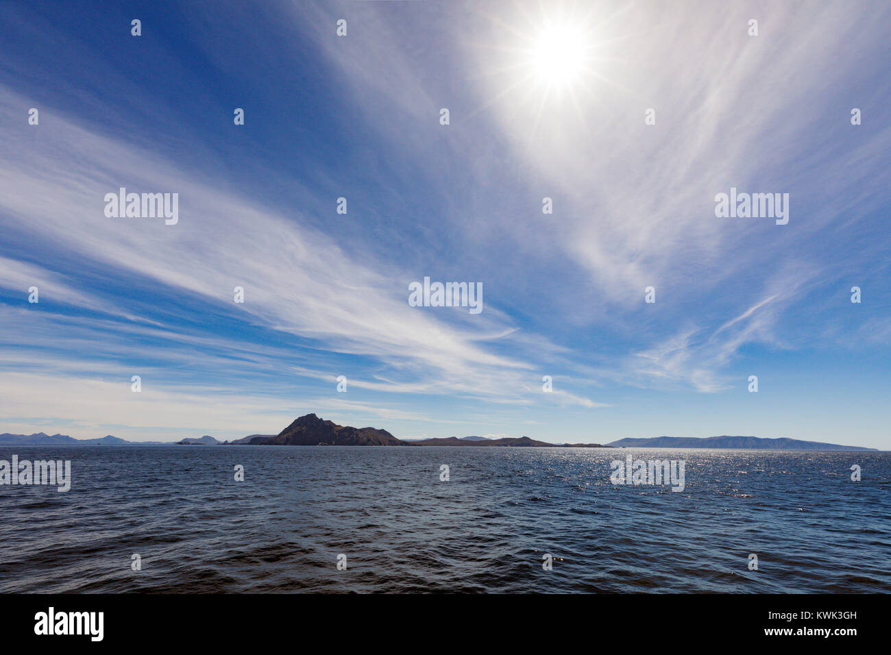 Cape Horn; Cabo de Hornos; is the southernmost headland of Tierra del Fuego archipelago of southern Chile; Hornos - Stock Image