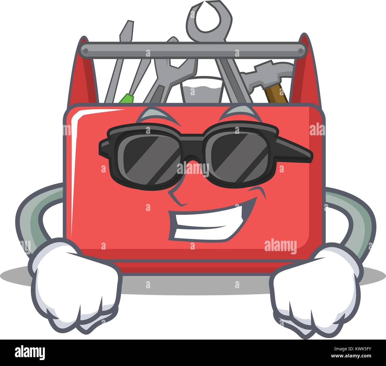 Super Cool Tool Box Character Cartoon Stock Vector Art