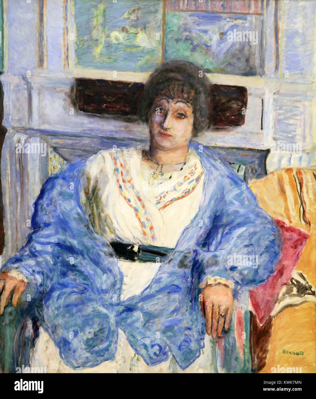 Portrait of Madame Émile Bernheim 1916 by Pierre Bonnard (1867 – 1947) Stock Photo