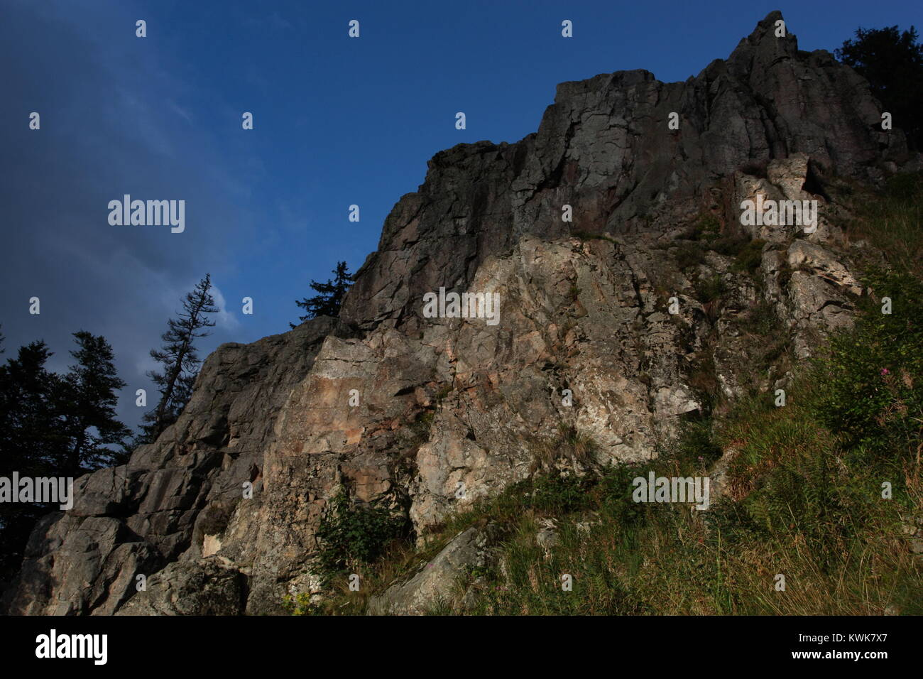 The Kandelfelsen viewed from below - Stock Image