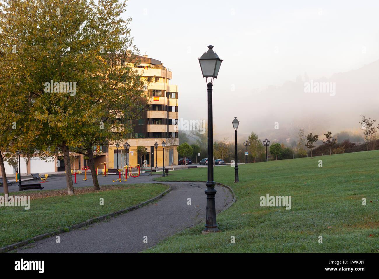 Park of the Way of Saint James (Parque del Camino de Santiago) in Oviedo, Asturias, Spain - Stock Image