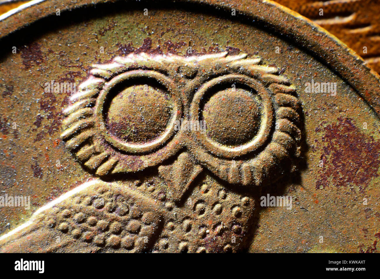 Greek drachm, Griechische Drachme Stock Photo