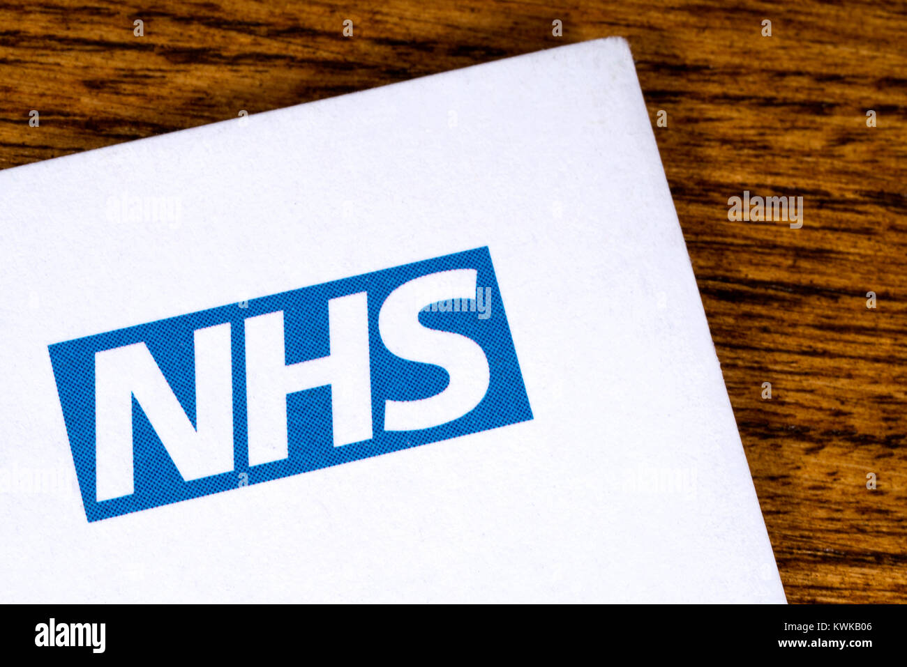LONDON, UK - DECEMBER 18TH 2017: Close-up of the National Health Service logo on a letterhead, on 18th December - Stock Image