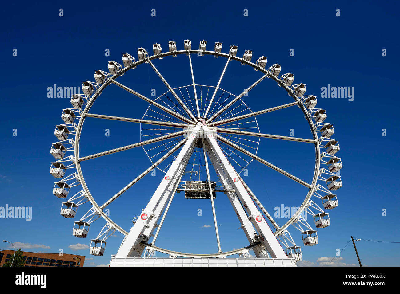 Big dipper in the beach quay in the harbour city of Hamburg, Germany, Europe, Riesenrad am Strandkai in der Hafencity - Stock Image