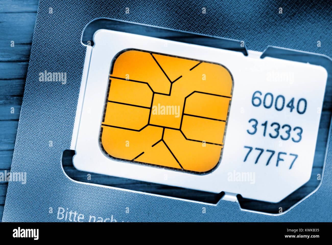 SIM map, SIM-Karte - Stock Image