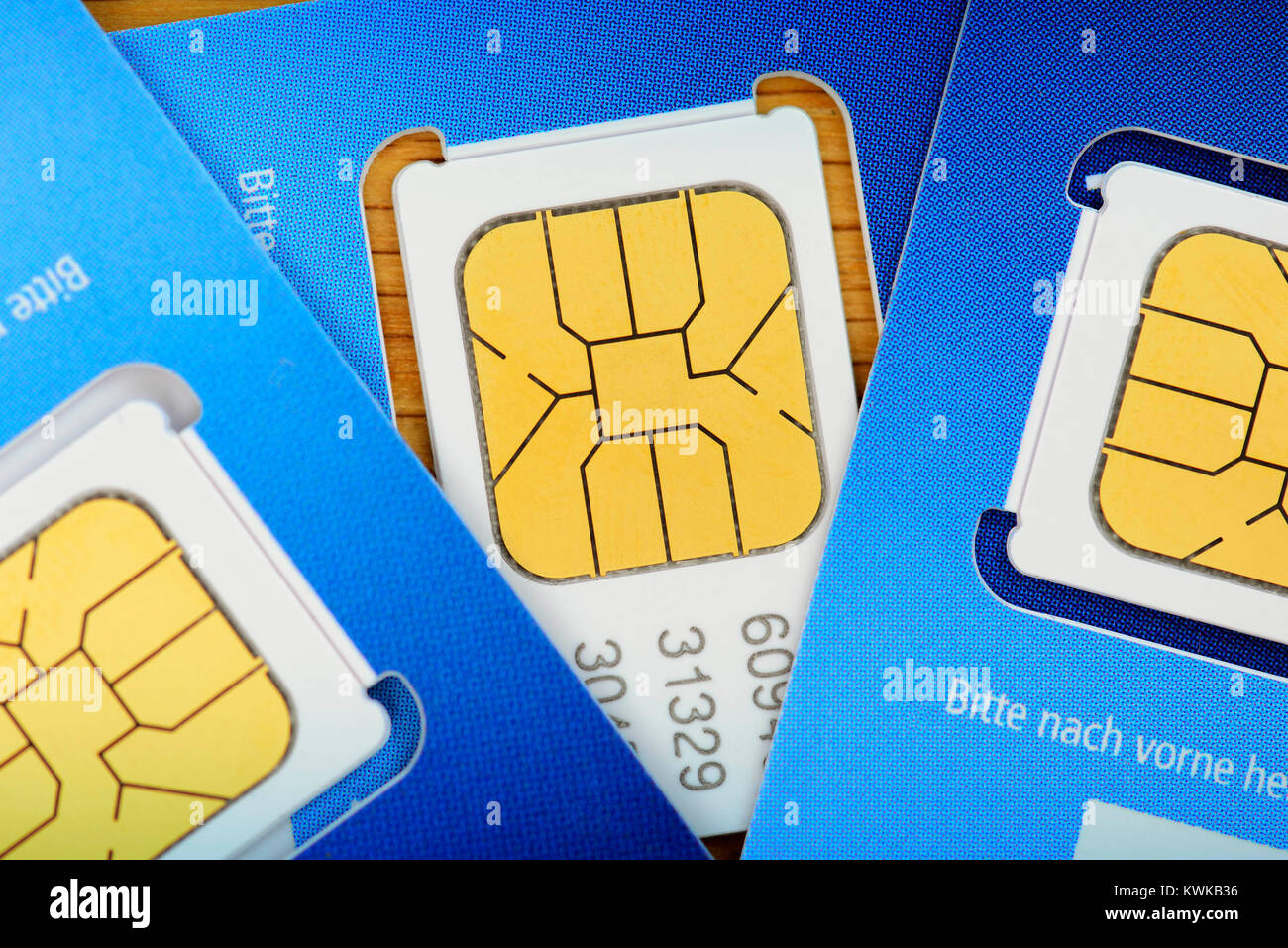 SIM maps, SIM-Karten - Stock Image