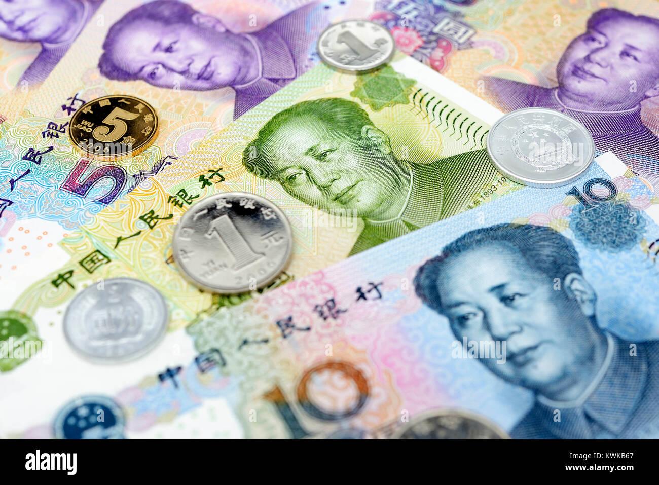 Chinese currency Renminbi, Chinesische W?hrung Renminbi - Stock Image