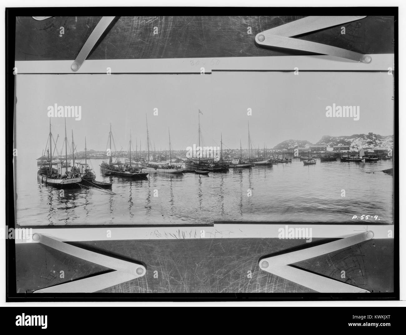 Ytre havn med den nye molo, Kabelvåg, Nordlands amt - fo30141512090025 - Stock Image