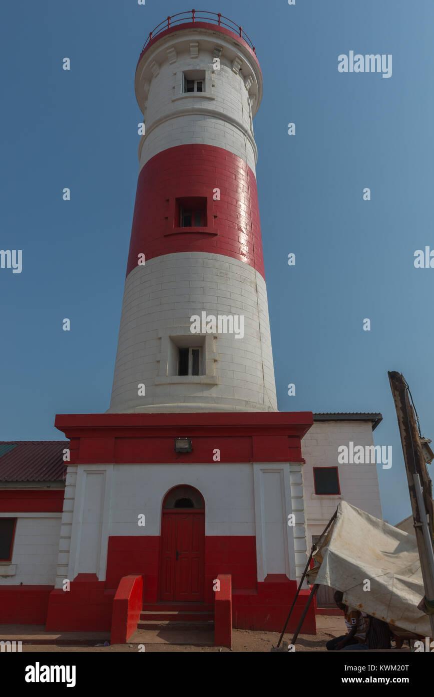 Jamestown lighthouse, Jamestown, Accra, Ghana, Africa Stock Photo