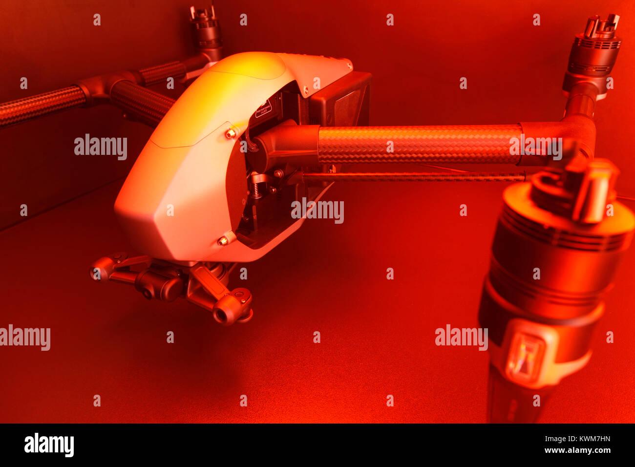 DJI Inspire 2 - Drone, Quadcopter with detachable 4K gimbal - Stock Image