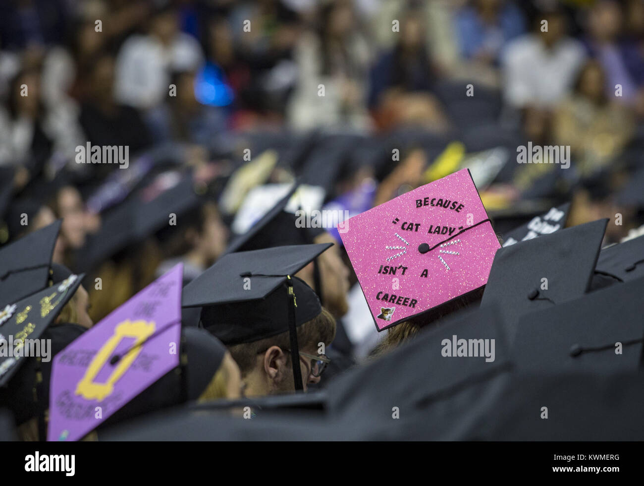 May 21 2017 Moline Iowa U S A Decorated Mortar Board Is Seen
