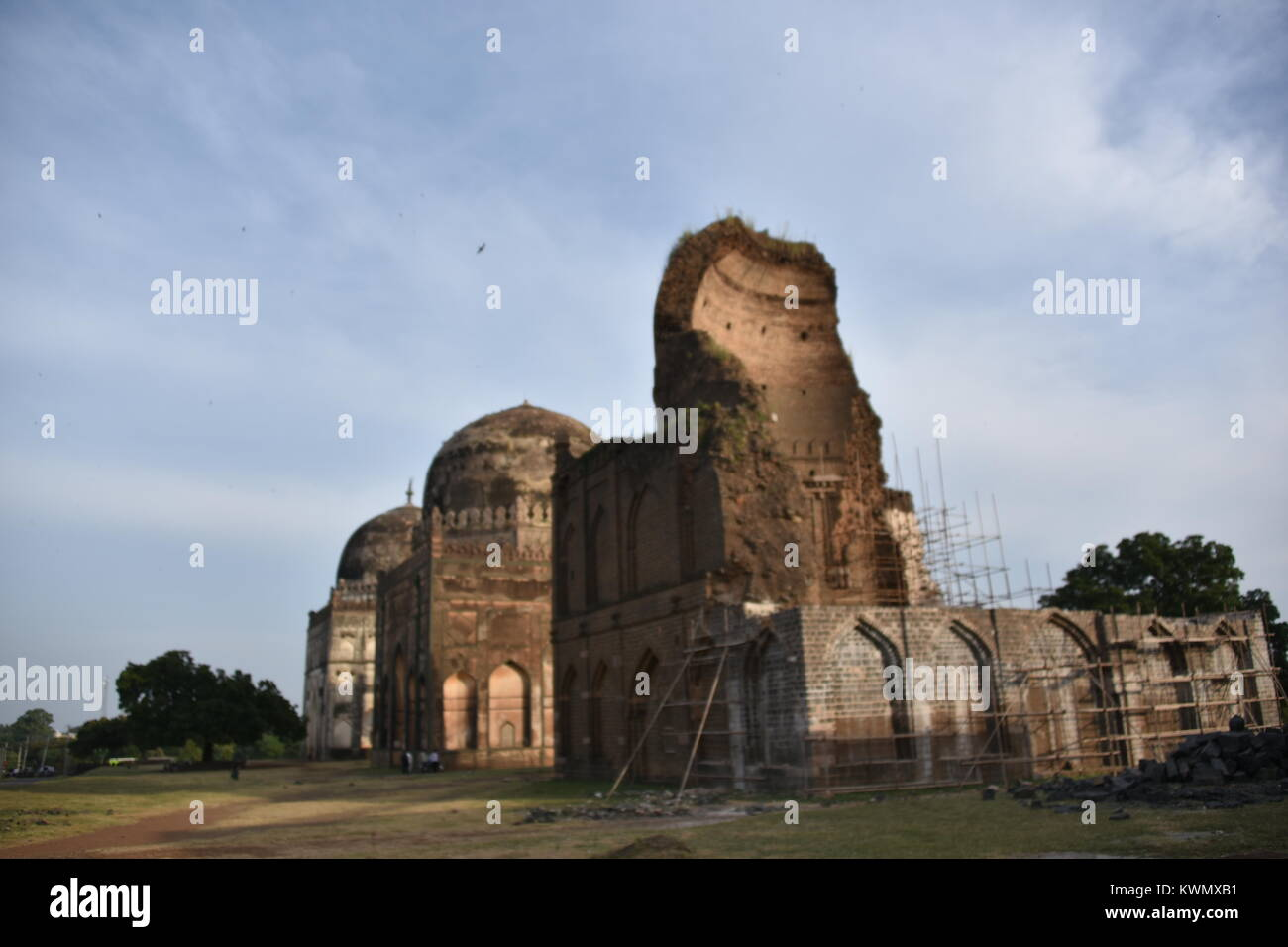 The tombs of Bahamani rulers, Bidar, Karnataka, India - Stock Image