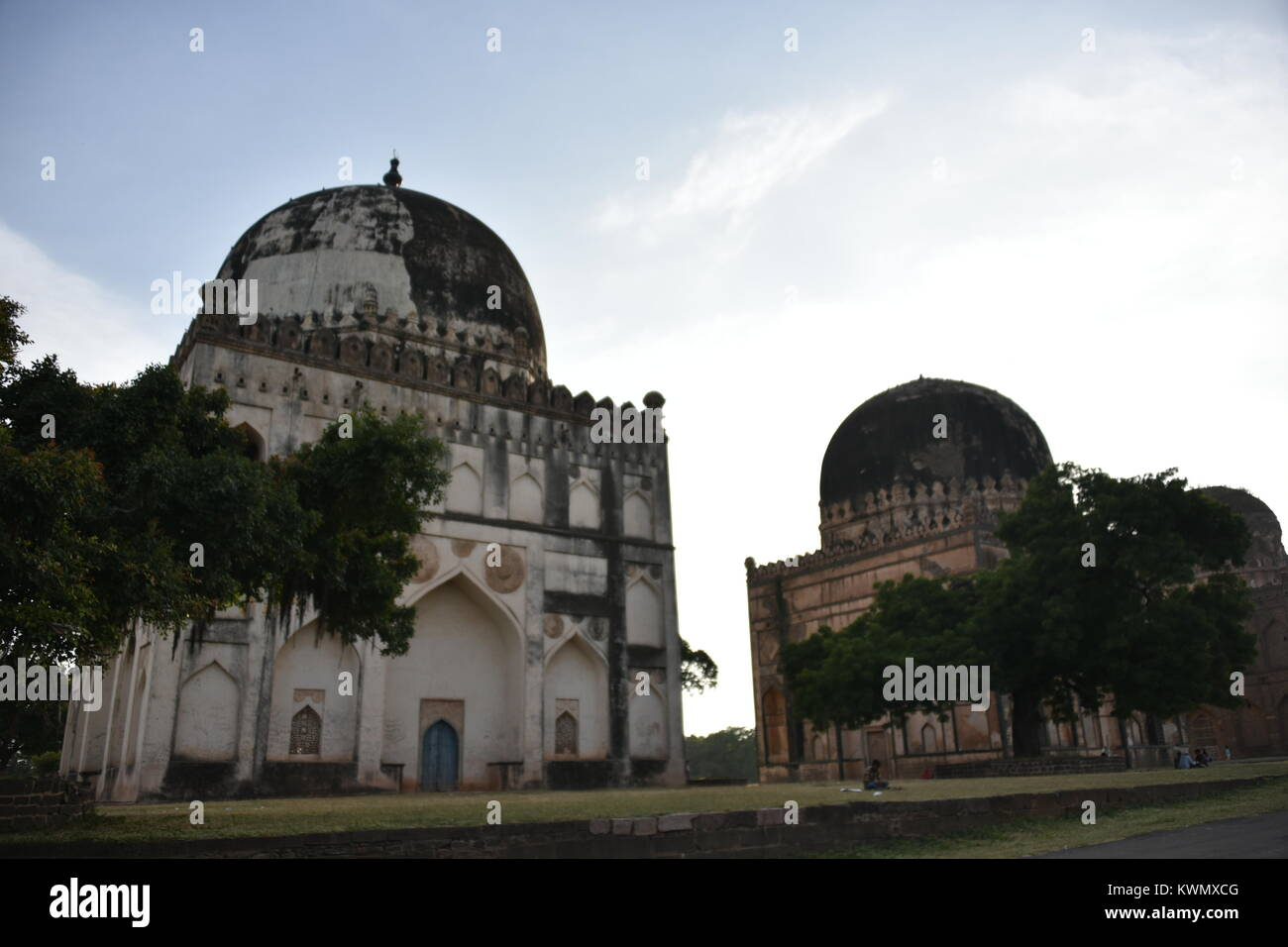 The tombs of Bahamani rulers, Bidar, Karnataka, India - Stock Image