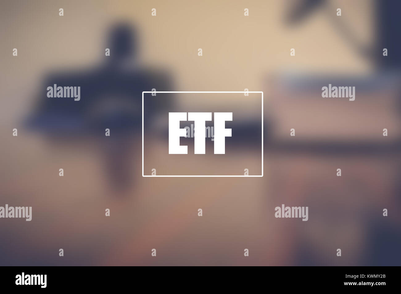 ETF, exchange traded fund, business and technology concept.jpg Stock Photo