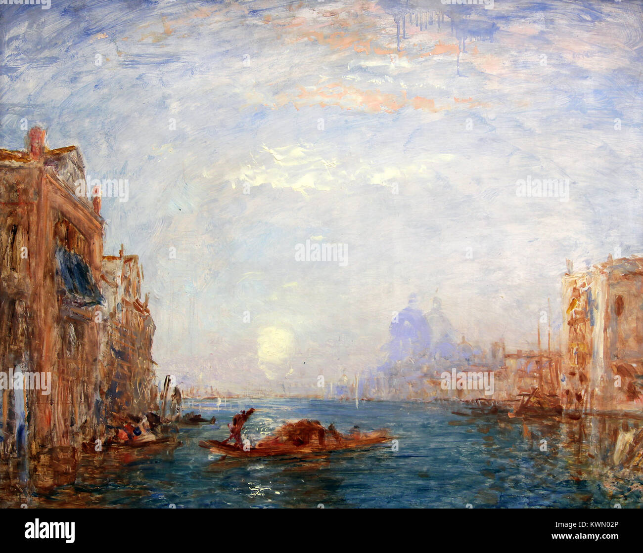 Venice by Félix Ziem (1821 –  1911) French painter in the style of the Barbizon School - Stock Image
