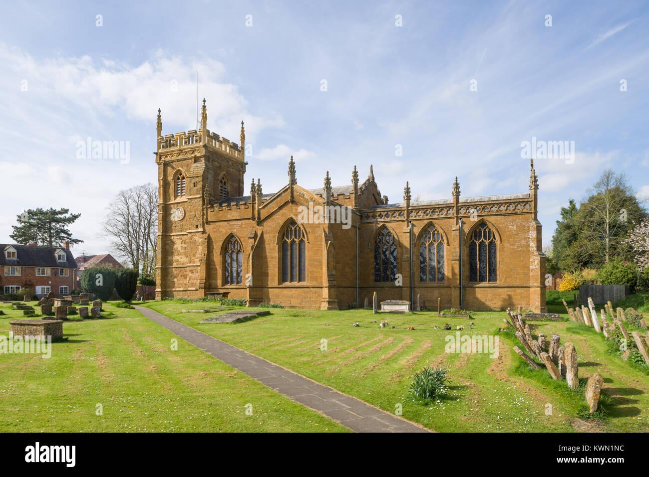 St. Peter's Church, Kineton, Warwickshire, England, UK - Stock Image