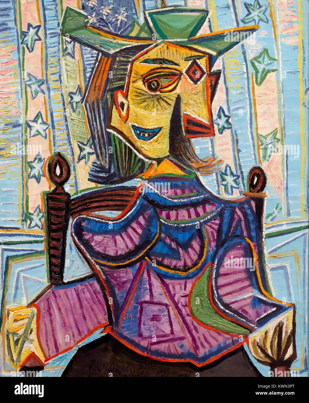 Dora Maar in an Armchair, Pablo Picasso, 1939, - Stock Image