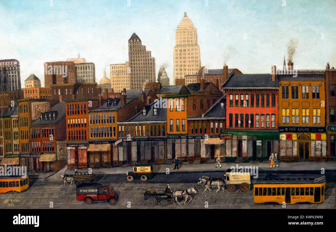 From My Studio Window, John Kane, 1932, Metropolitan Museum of Art, Manhattan, New York City, USA, North America - Stock Image