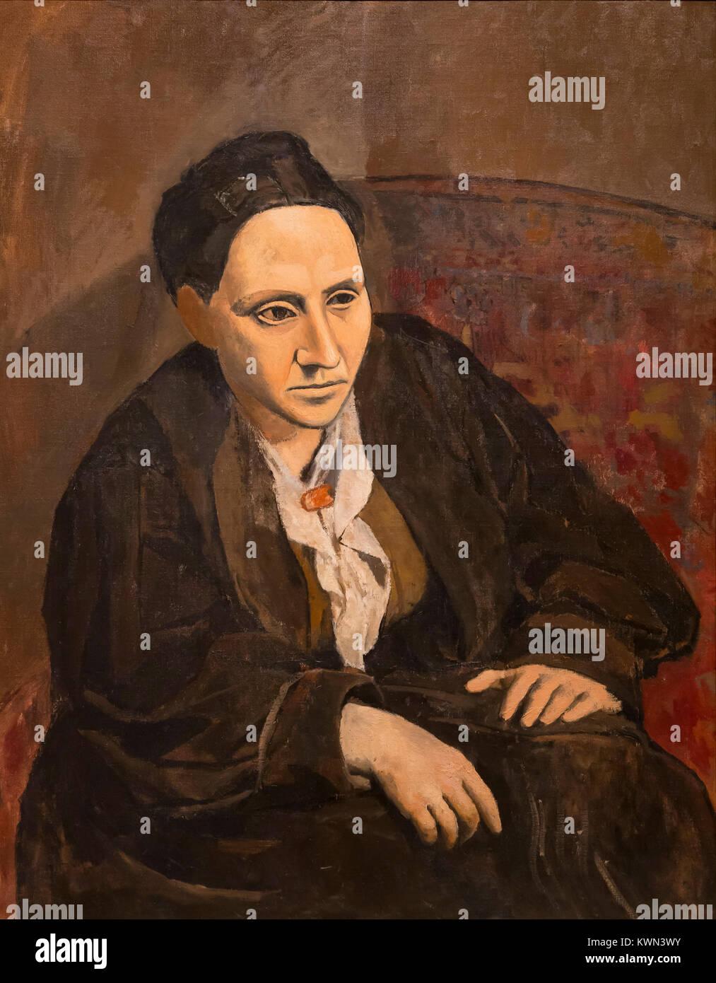 Gertrude Stein, Pablo Picasso, 1905-1906, - Stock Image