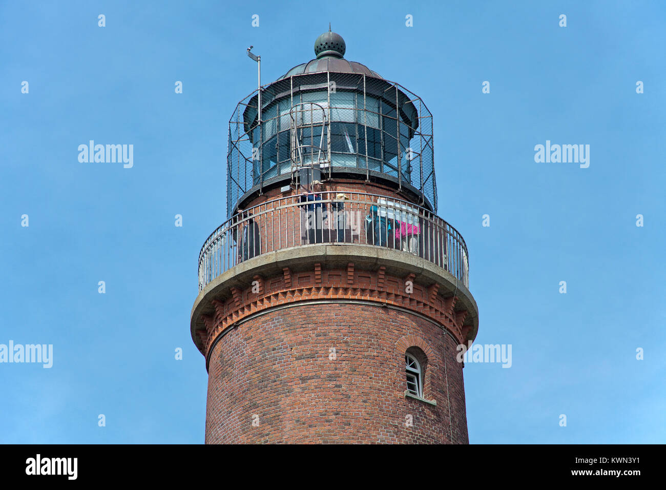 Lighthouse at the 'Darsser Ort', Prerow, Fishland, Mecklenburg-Western Pomerania, Baltic sea, Germany, Europe - Stock Image
