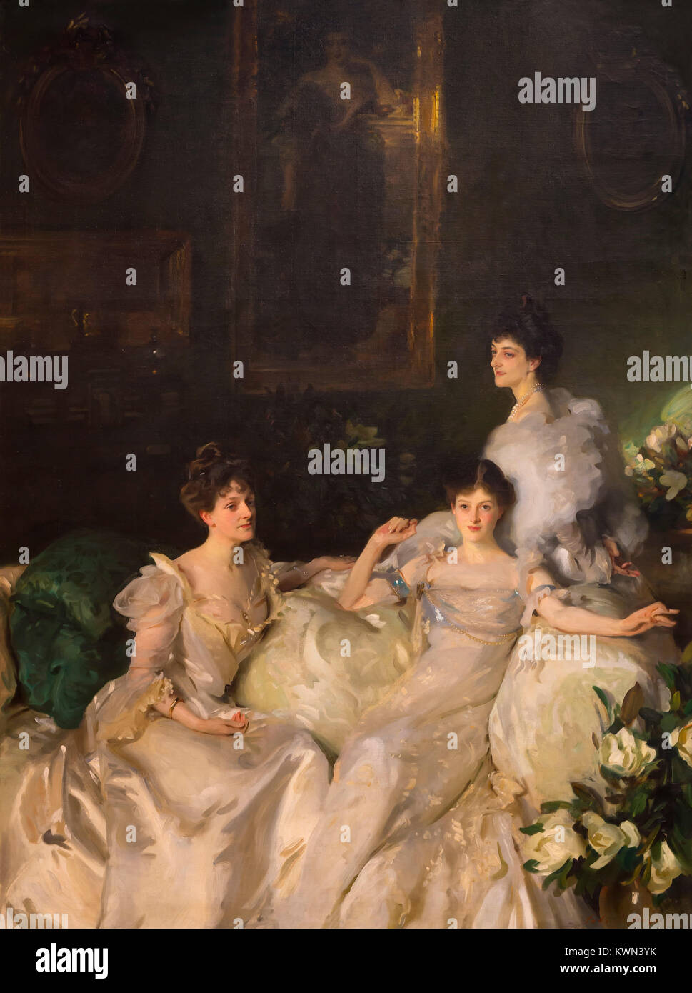 The Wyndham Sisters, Lady Elcho, Mrs Adeane and Mrs Tennant, John Singer Sargent, 1899, Metropolitan Museum of Art, - Stock Image