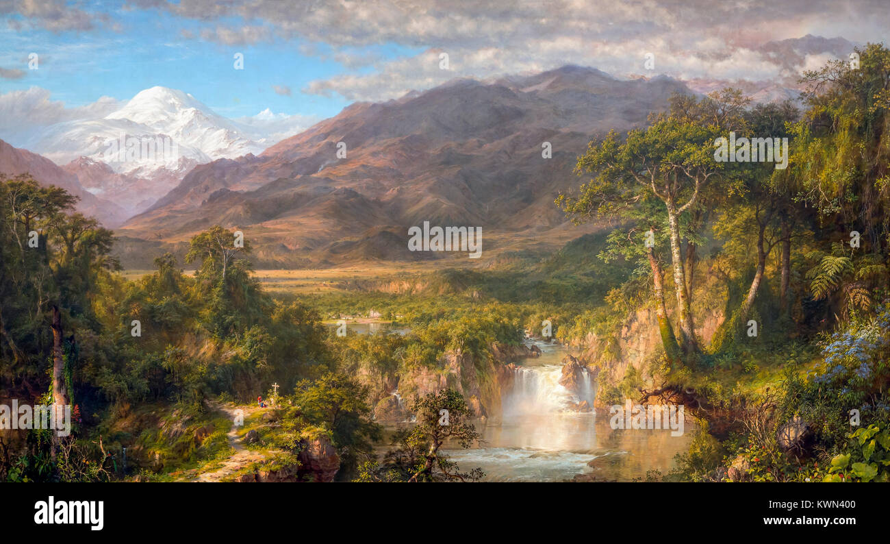 Heart of the Andes, Frederic Edwin Church, 1859, Metropolitan Museum of Art, Manhattan, New York City, USA, North Stock Photo