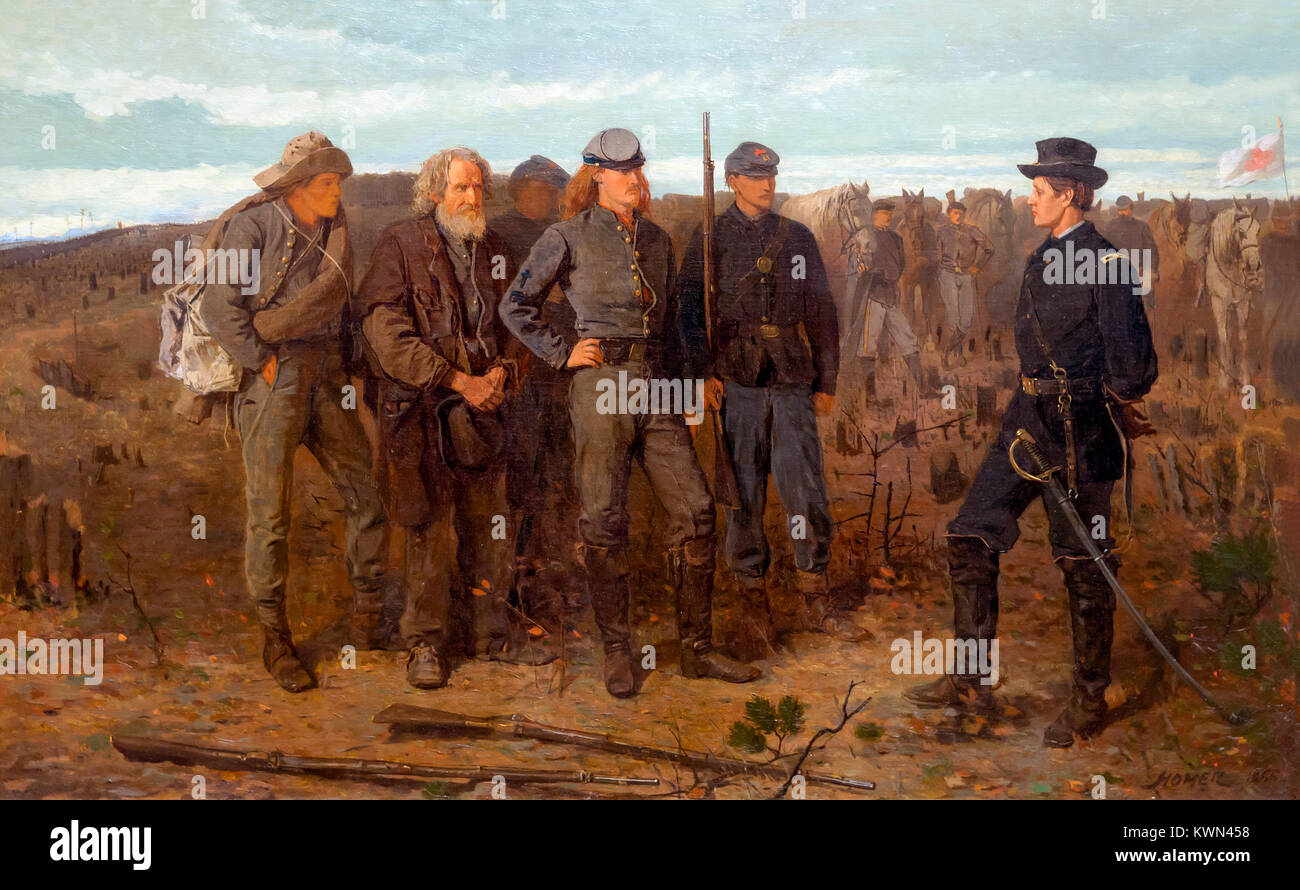 Prisoners from the Front, Winslow Homer, 1866, Metropolitan Museum of Art, Manhattan, New York City, USA, North - Stock Image