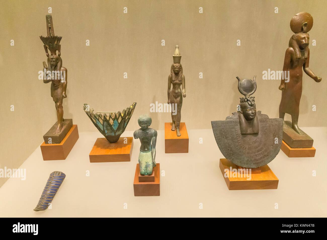 Temple Donations, Third Intermediate and Kushite Periods, Metropolitan Museum of Art, Manhattan, New York City, - Stock Image
