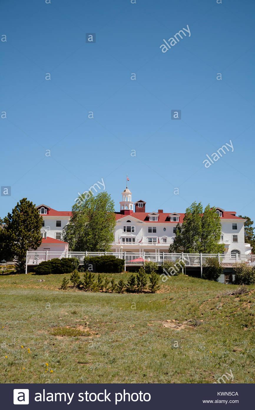 Stanley Hotel, Estes Park, Colorado - Stock Image