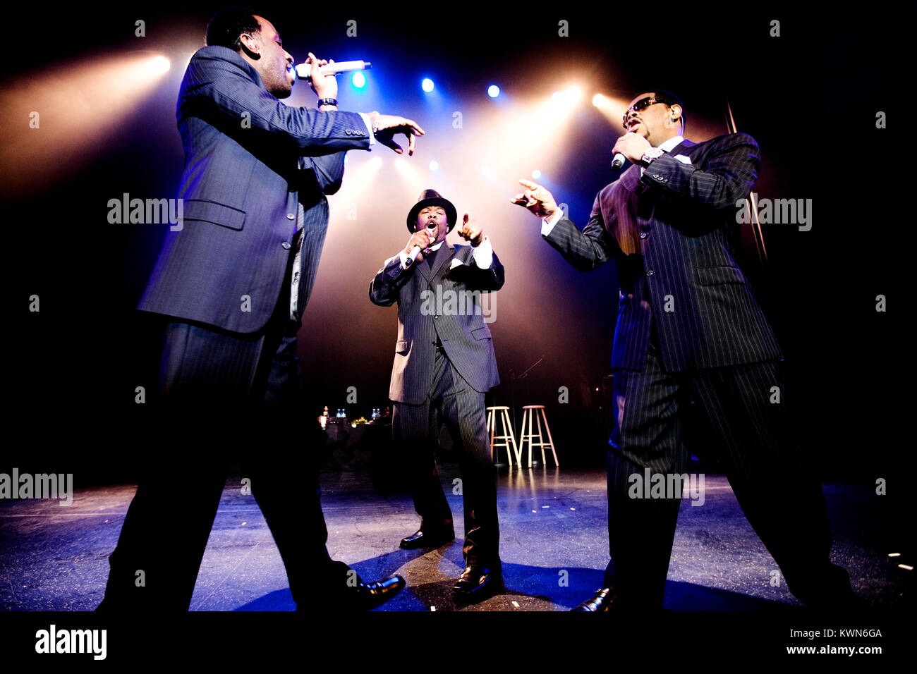 The American R&B and vocal group Boyz II Men performs a live concert at Vega in Copenhagen. Denmark 07/04 2008. - Stock Image