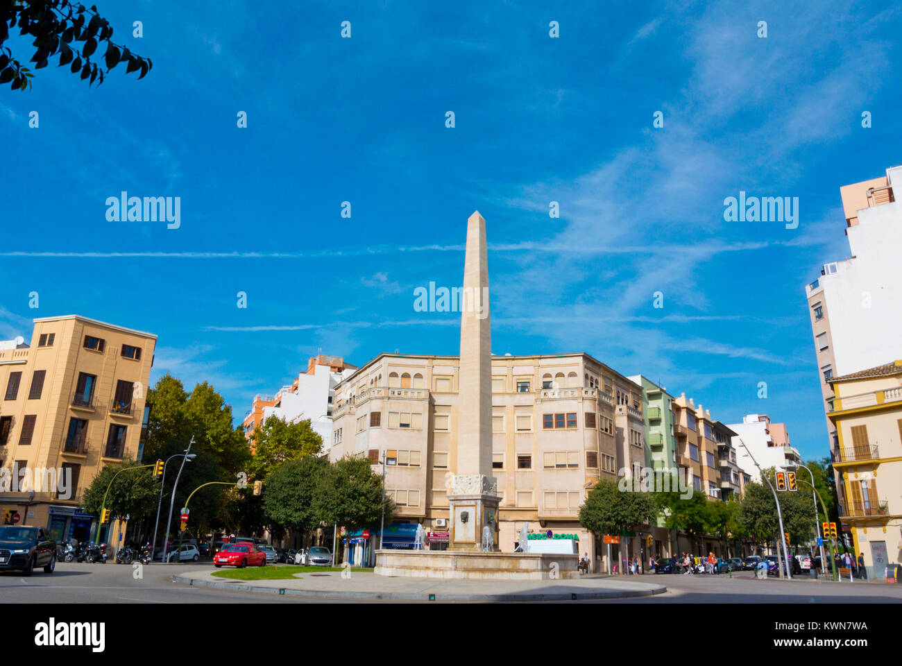 Placa del Cardenal Reig, Palma, Mallorca, Balearic islands, Spain - Stock Image
