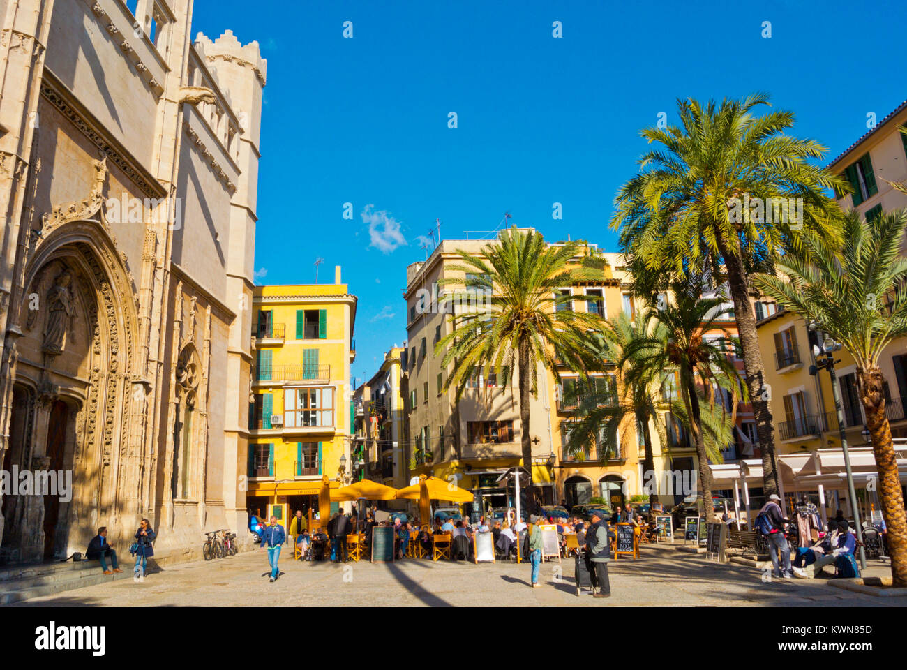 Placa de la Llotja, Palma, Mallorca, Balearic islands, Spain Stock Photo