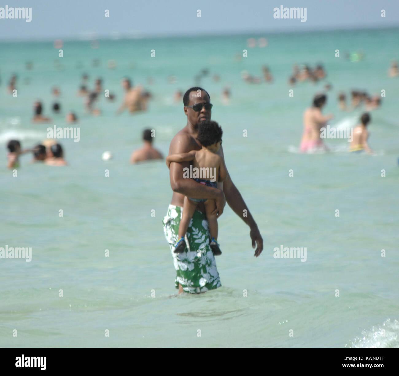 MIAMI BEACH - JULY 31: Dr. Conrad Murray ( AKA Conrad Robert Murray - Born: 19-Feb-1953)  continued his vacation - Stock Image