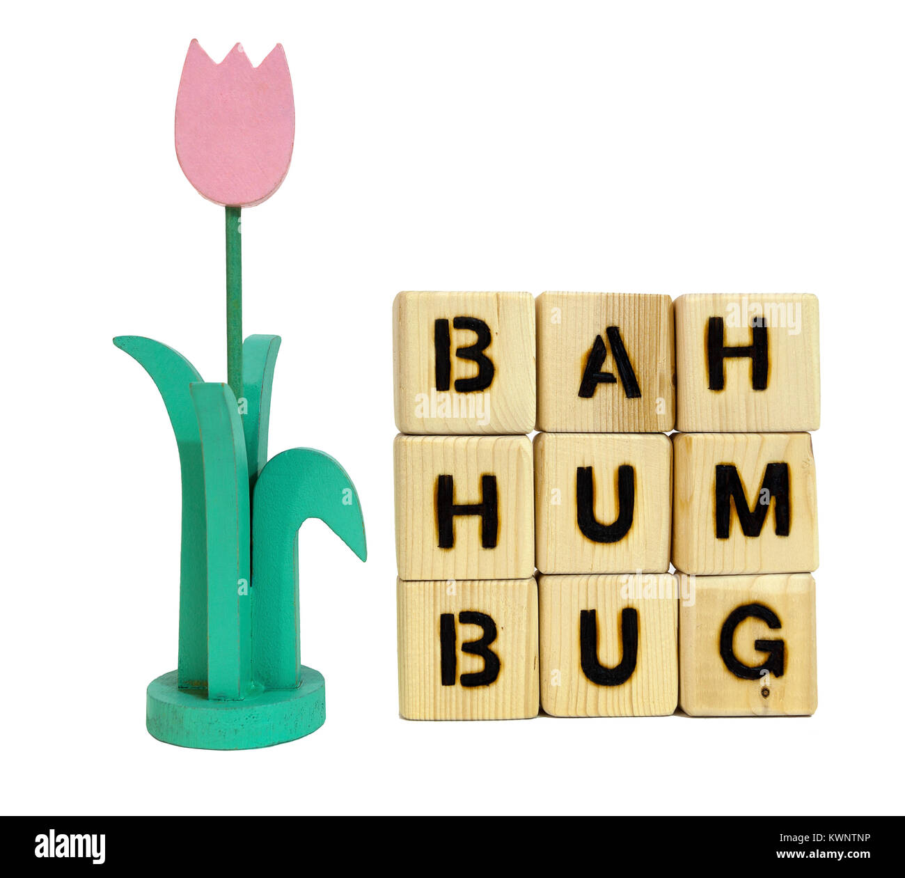 Spring-flowers and a new beginning. Humph! Bah humbug! - Stock Image