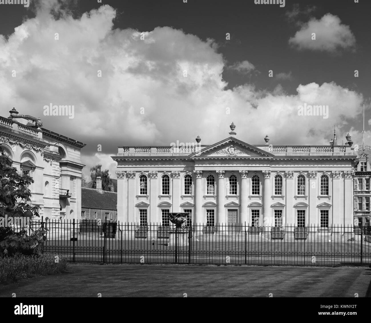 Cambridge University Senate House and Old Schools on King's Parade - Stock Image