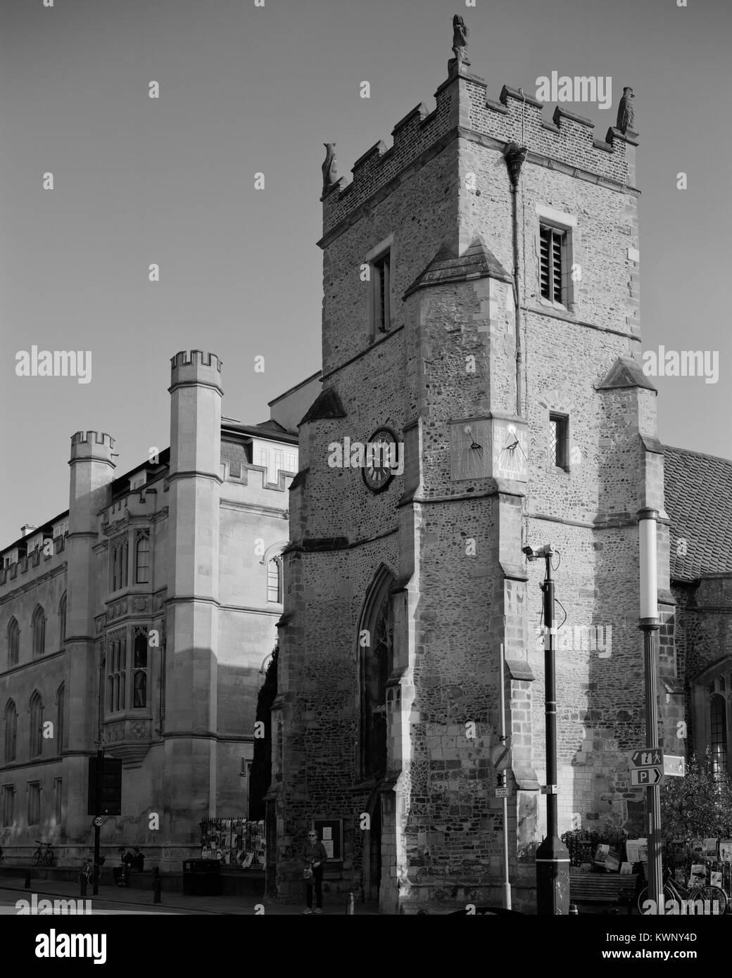 St Botolph's Church, King's Parade Cambridge - Stock Image
