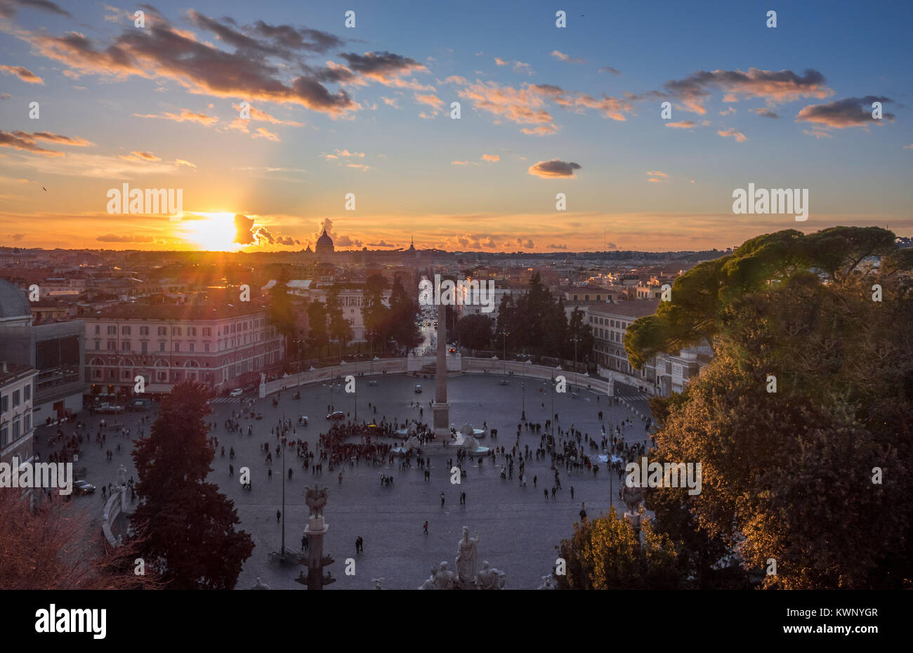 Rome Italy The Historic Center Of Rome Here In