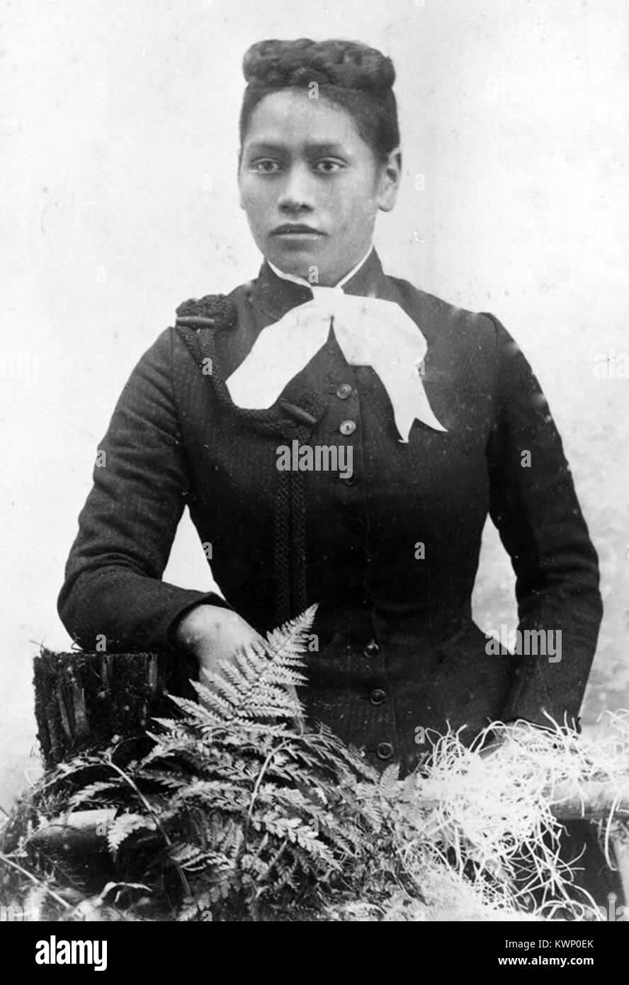 Meri Te Tai Mangakāhia, a member of the Kotahitanga movement in the 1890s, who argued that women should have equal - Stock Image