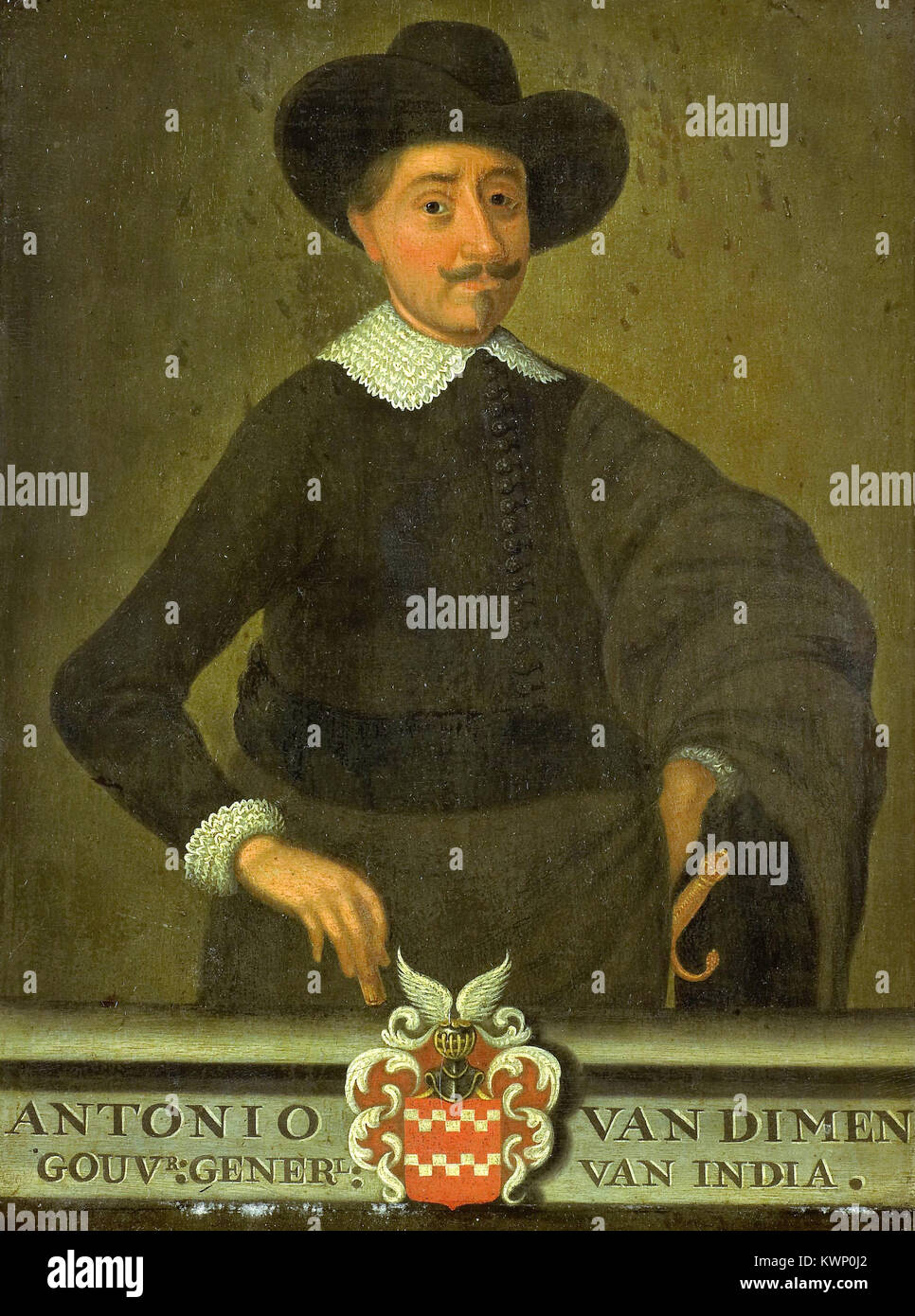 Anthony van Diemen (1593 – 19 April 1645) Dutch colonial governor - Stock Image