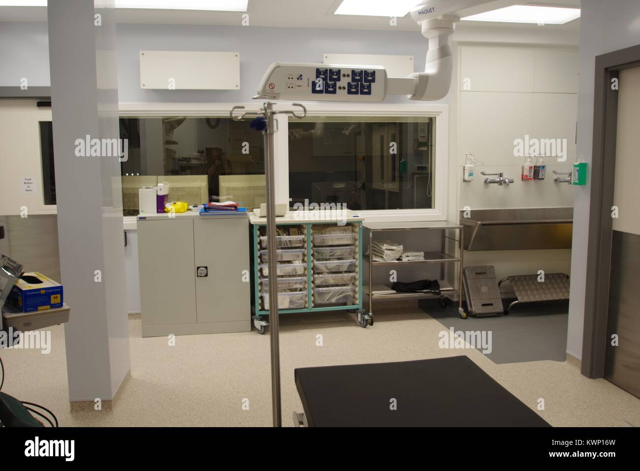 Modern British Hospital Operating Theatre. - Stock Image