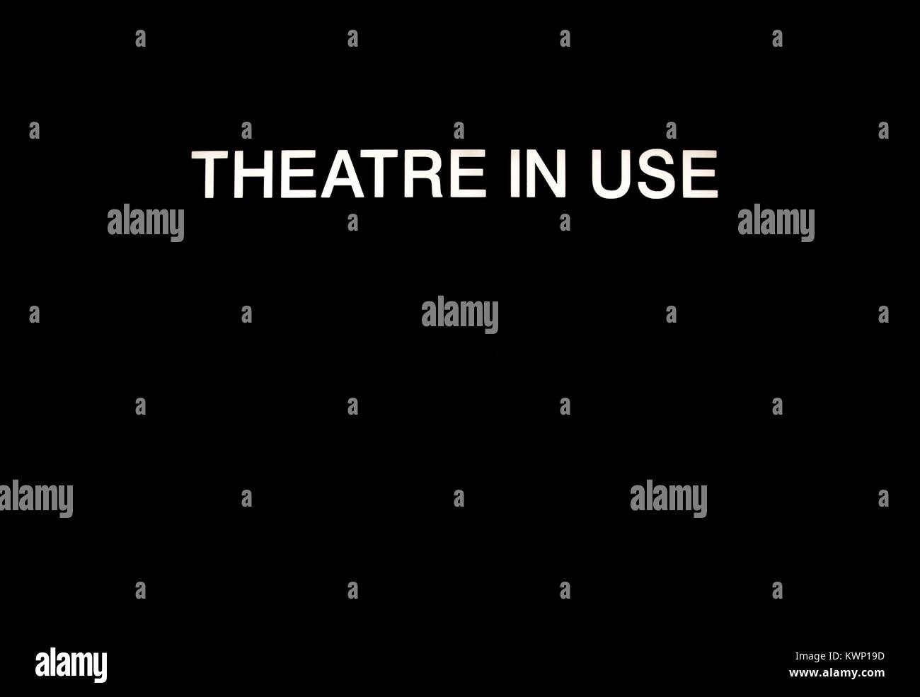 Theatre In Use Sign, in a Modern British Hospital Operating Theatre. December, 2017. - Stock Image
