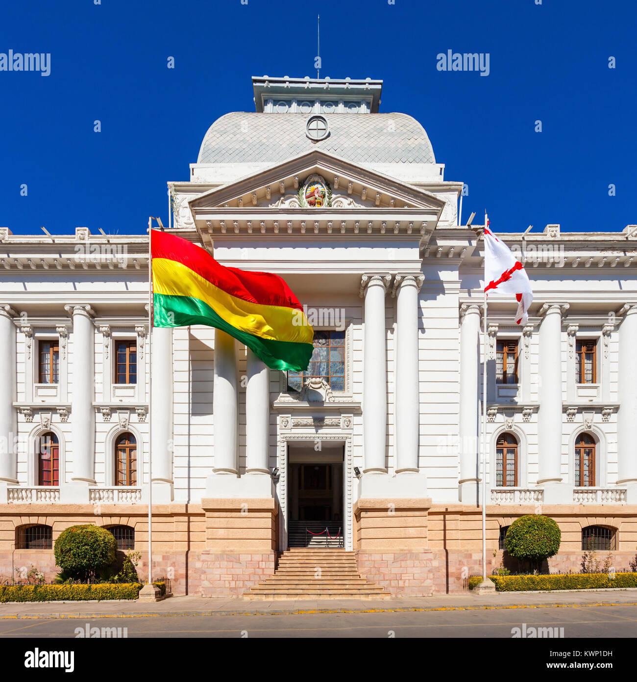 Supreme Court Of Bolivia In Sucre Is Located In Sucre The Stock Photo Alamy