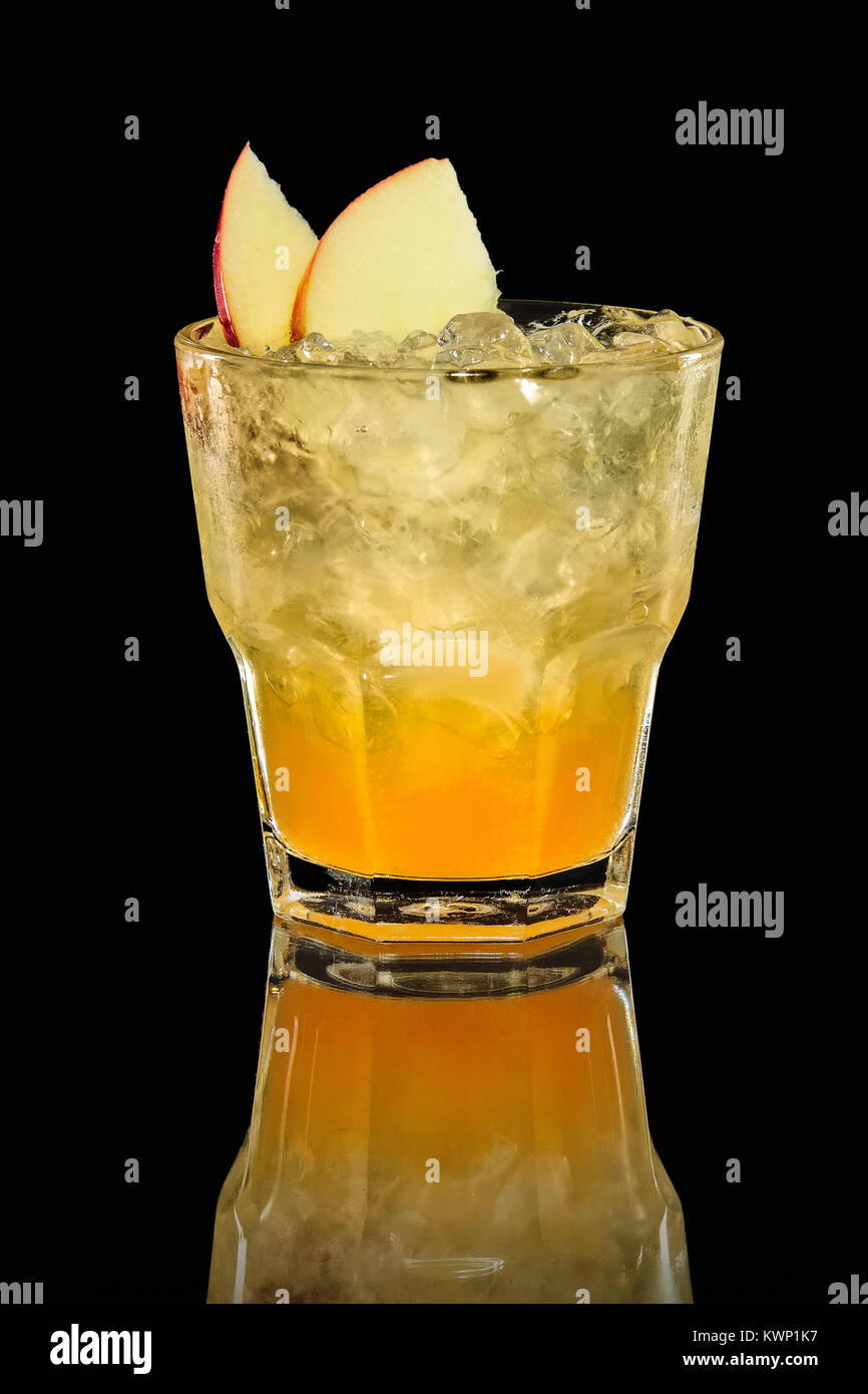 Apple and orange ice drink Stock Photo