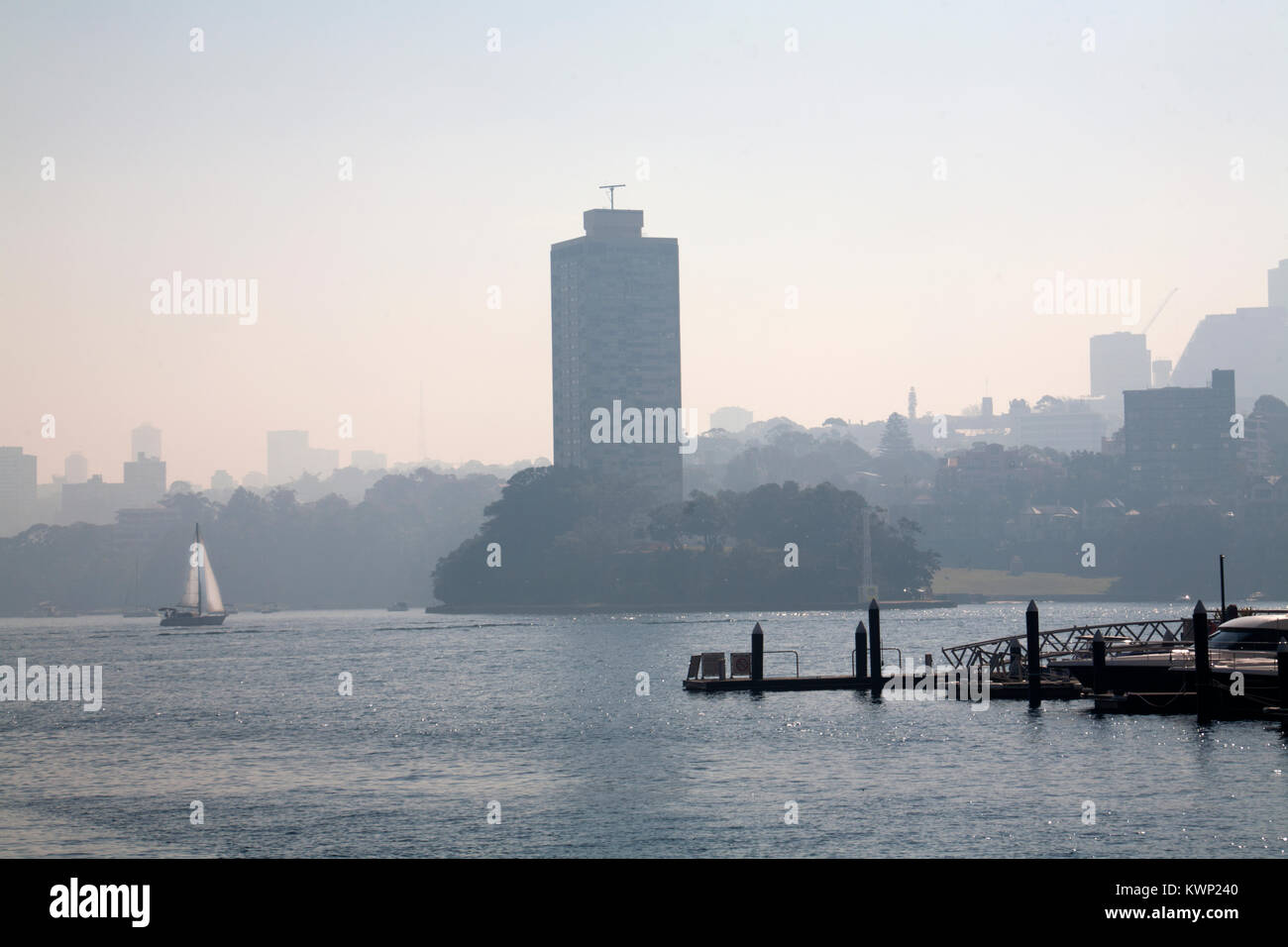 wharves walsh bay sydney harbour new south wales australia - Stock Image